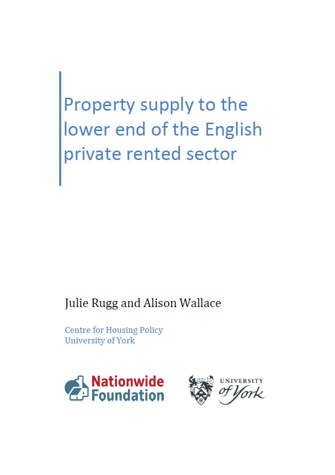Property supply to the lower end of the English private rented sector